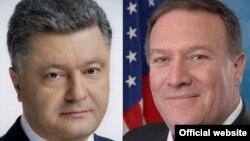 美國國務卿蓬佩奧星期一與烏克蘭總統波羅申科通電話。