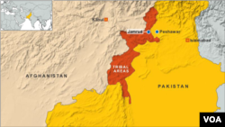 ແຜນທີ່ເມືອງ Peshawar ໃນປາກິສຖານ.