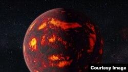 An artist's impression of 55 Cancri e (credit: NASA/ESA Hubble Space Telescope)