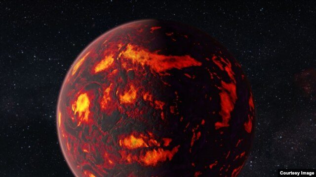 An artist's impression of 55 Cancri e (credit: NASA/ESA Hubble Space Telescope)