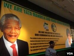 Umhlangano webandla leAfrican National Congress beliceciswe ngemifanekiso kamuyi uNelson Mandela