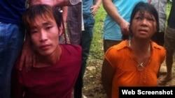 Báo chí trong nước đưa tin, hai người bị bắt tên là Đặng Văn Hùng và Nguyễn Thị Hán.