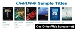 OverDrive Sample Titles