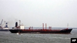 The MV Theresa VIII chemical tanker in Kakinada, India on 9 June 2007 (file photo)