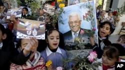 巴勒斯坦學童11月28日支持巴勒斯坦當局加入國際刑事法院等聯合國組織