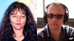 Foto yang dirilis oleh Radio France International (RFI) menunjukkan dua wartawannya Ghislaine Dupont (kiri) dan Claude Verlon, yang diculik dan dibunuh di Kidal, utara Mali saat bertugas (2/11).