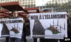 Fransiyada Le Pen boshchiligidagi millatchi partiyaning musulmonlarga qarshi norozilik namoyishi