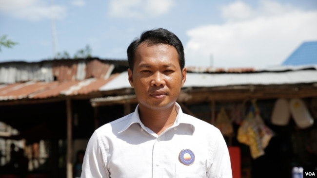 Yin Theavy, 37, from the opposition Cambodia National Rescue Party, is set to become Bavet commune chief, Svay Rieng, Cambodia, June 27, 2017. (Sun Narin/VOA Khmer)