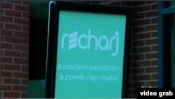 Recharj, Cafe Tidur Pertama di Washington DC (Foto: VOA/Videograb)