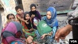 گروهی از زنان آواره از موصل