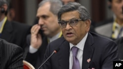 Indian Foreign Minister S.M. Krishna delivers a speech, July 8, 2012