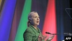 Ngoại trưởng Hoa Kỳ Hillary Clinton đọc diễn văn tại hội nghị ở Hà Lan về thăng tiến quyền tự do xử dụng Internet