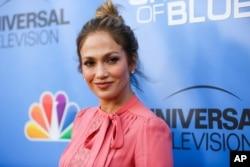 """FILE - Jennifer Lopez arrives at the """"Shades of Blue"""" FYC Event at Saban Media Center in Los Angeles, June 9, 2016."""