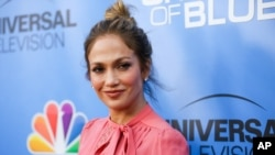 "FILE - Jennifer Lopez arrives at the ""Shades of Blue"" FYC Event at Saban Media Center in Los Angeles."