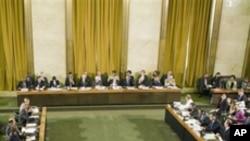 스위에서 열렸던 유엔 군축회의장 (자료사진)