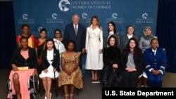 美國第一夫人梅拉尼亞川普3月29日在華盛頓出席了國務院2017年國際婦女勇氣獎頒獎典禮。