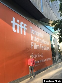Kenny Santana di ajang Toronto International Film Festival 2018 di Kanada (Dok: Kenny Santana)