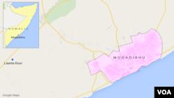 Bản đồ thủ đô Mogadishu, Somalia.