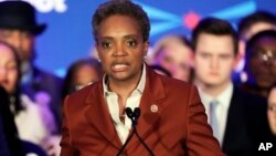 Bà Lori Lightfoot trở thành thị trưởng Chicago