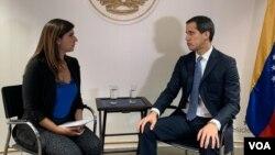 گوایدو در گفتکو با «صدای آمریکا» در کاراکاس