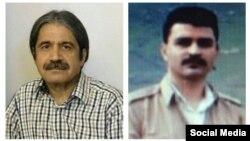 سوران شریفی (راست) و اسماعیل گرامی