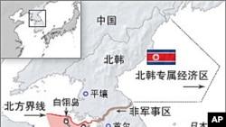 Área disputada pelas duas Coreias