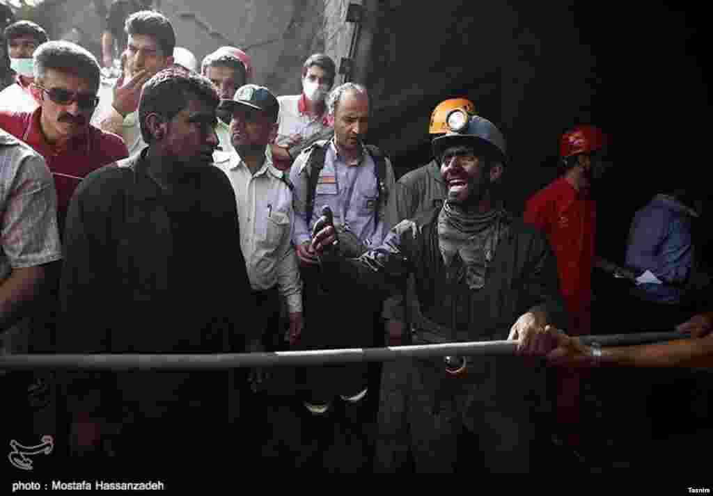 عکسی از انفجار روز چهارشنبه معدن آزادشهر استان گلستان. عکس: مصطفی حسن زاده