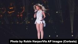 Beyoncé durante su actuación en Washington D.C.