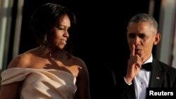 président américain Barack Obama et la Première Dame Michelle Obama à Washington, 13 mai 2016. REUTERS / Carlos Barria