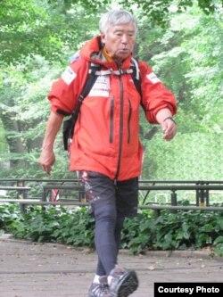 Yuichiro Miura, saat berlatih di Tokyo untuk persiapan pendakian gunugn Everest tahun 2013 (Foto: dok).