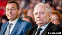Премьер-министр Польши Матеуш Моравецкий и Ярослав Качиньский