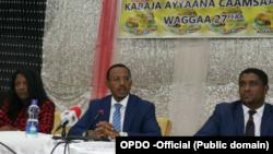 Pirezdaantiin mootummaa naannoo Oromiyaa Obboo Lammaa Magarsaa, Kabajaa Caamsaa 20 bara 2018 irratti oggaa haasaha godhan