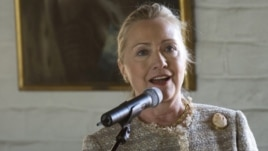 US Secretary of State Hillary Rodham Clinton gives a speech in Oslo, Norway, Friday June 1, 2012.