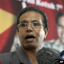 Taur Matan Ruak, antigo Chefe do estado Maior das Forças Amadas, ficou em segundo lugar e vai à segunda volta das presidenciais timorenses.