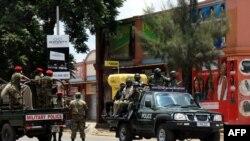 La police zambienne dans les rues de Lusaka, le 15 janvier 2018.