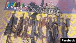 Wasu daga cikin makaman da aka kama a hannun mayakan Boko Haram (Facebook/Dakarun Najeriya)