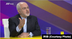 FILE - Iranian Foreign Minister Mohammad Javad Zarif appears on a live morning talk show on Iranian state television's Channel 3 on Aug. 26, 2018.