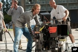 Director/Executive Producer Michael Bay on the set of TRANSFORMERS: DARK OF THE MOON, from Paramount Pictures.