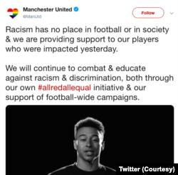 Cuitan Manchester United terkait kasus pelecehan pada dua pemainnya di laga melawan Manchester City
