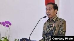 Presiden Jokowi memberikan konferensi pers di Istana Kepresidenan, Bogor terkait situasi keamanan di Papua, Kamis (22/8) (Foto: Biro Pers Setpres RI).