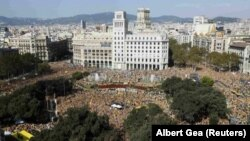 تظاهرات استقلال طلبان کاتالونیا – بارسلون، ۲۷ مهر