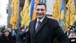 烏克蘭反對派領袖,世界拳王克里欽科。