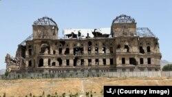 قصر دارالامان در زمان جنگهای داخلی افغانستان ویران شد