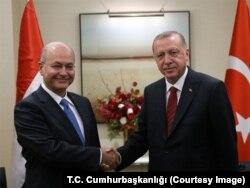Cumhurbaşkanı Erdoğan ve Irak Cumhurbaşkanı Salih