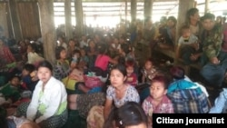 ရခိုင္ဒုကၡသည္မ်ား (သတင္းဓါတ္ပံု - Khine Murn Chun (Citizen Journalist))