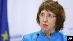 ဥေရာပသမဂၢ အီးယူ ႏုိင္ငံျခားေရးမူ၀ါဒ ဆုိင္ရာ အႀကီးအကဲ Catherine Ashton (ဇြန္လ ၁၉ ရက္၊ ၂၀၁၂)။