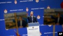 Predsednik Srbije Aleksandar Vučić je za razgraničenje na Kosovu, koje zapadni političari ne podržavaju, Foto: AP Photo/Darko Vojinovic