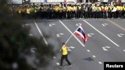 Hình ảnh một cuộc xuống đường ở Bangkok.