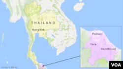Wilayah Pattani, Yala dan Narithiwat di selatan Thailand.