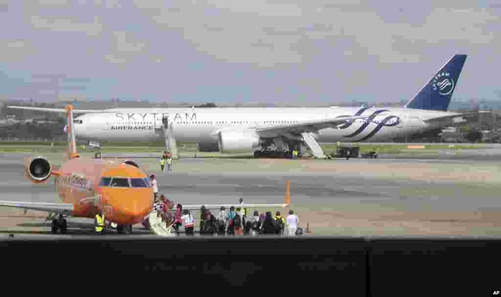 Ndege ya Air France iliy7otua kwa dharura mjini Mombasa
